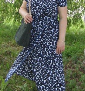 Комфортное летнее платье р. 50-52