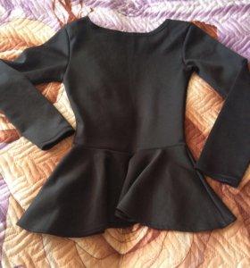 Блузка с баской.