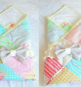 Новый конверт на выписку / лоскутное одеяло