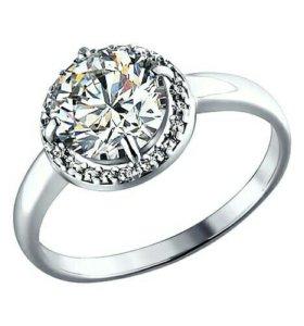 Серебряное кольцо 94010497 с фианитом 2.89гр