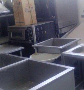 Ванны моечные из нержавейки столы вытяжки бу