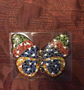 Бабочка, ящерица- Декор на стену