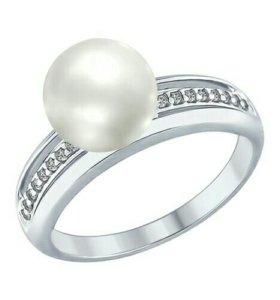Серебряное кольцо 94012346 с жемчугом