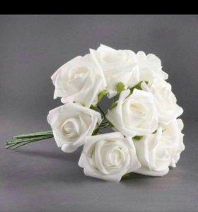 Цветы (розы )из латекса