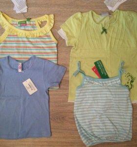 Новые футболки для девочки 3-4 года