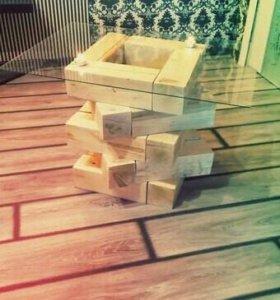 Столик из бруса Corners