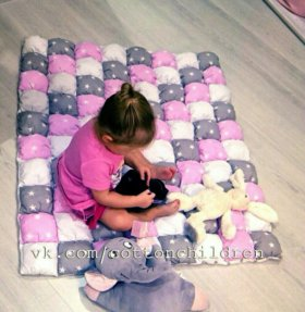 Детское одеяло бомбон/бонбон/Bubblequilt