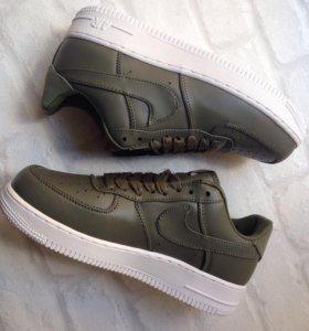 Кеды Nike Air Force Зеленые