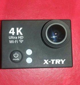 Экшен камера 4K UHD Wi-Fi X-TRY XTC150