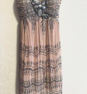 Шифоновое платье на брителях