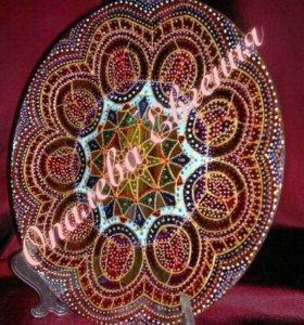 Декоративная тарелка на подставке