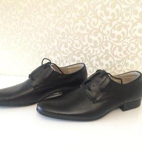 Туфли мужские кожаные новые 40 размер