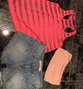 Майка ,топ,джинсы фирменные