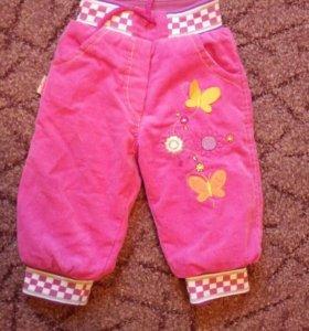 Теплые вильветовые штанишки