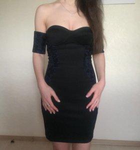 Новое чёрное платье Bershka, р-р S