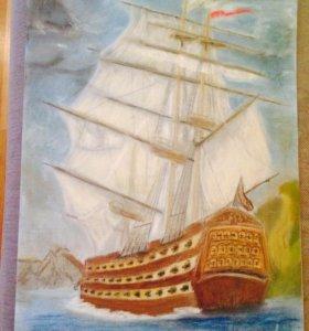 Картина, пастель сухая