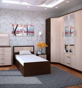 Модульная спальня фиеста, с 1 кроватью