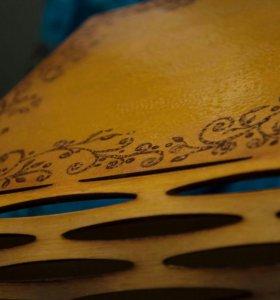 Шкатулка из фанеры,ручная роспись