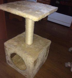 Домик для кошки. Когтеточка
