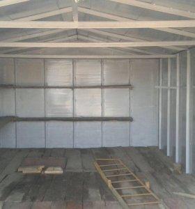 Железный гараж с кессонным погребом . Охраняемые !