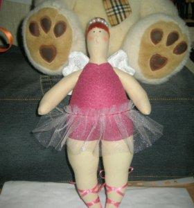 Мягкие игрушки и куклы-тильда.