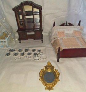 Набор мебели и посуды для кукол