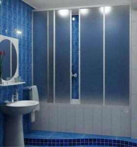 Раздвижные шторки для ванной(новые)