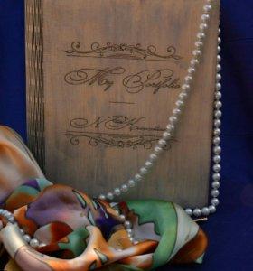 Обложка для тетради-ежедневника на кольцах.