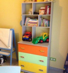 Комод для детской комнаты со стелажом