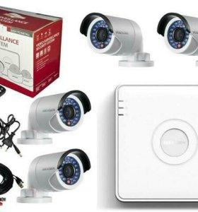 Комплекты видеонаблюдения, камеры.
