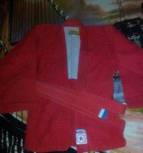 Куртка для самбо рост 130-134