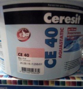 Затирка Ceresit CE-40 розовая