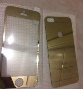 Защитные стекла на iPhone 5,5 s