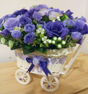 Топиарии,цветочные композиции,подарки ручной работ