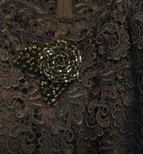 Платье+ кружевной жакет