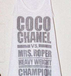 Белая майка Queen of evil E.vil Coco Chanel