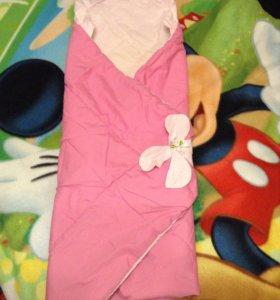 Конверт-одеяло для девочки