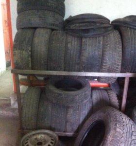 Б/у шины от r14 до r18 по одному по два, от 500р