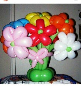 Букетик из шаров. Оформление праздника