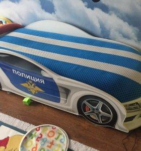 Детская кровать-машина мерседес, с подсветкой фар