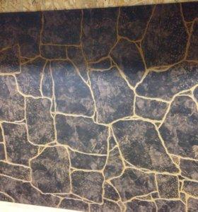 Панель Камень темно-коричневый