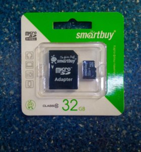 Микро SD 32gb+адаптер