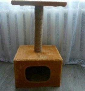 Домик-когтеточка. Домик для кошки. Когтеточка.