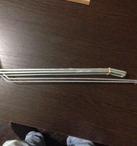Крючки двойные с ценникодержателем для стеллажей