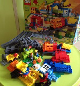 Поезд Лего дупло железная дорога