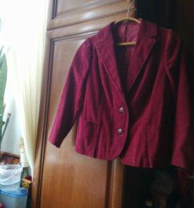 Новый пиджак   вельветовый.       46-48