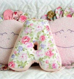 Буквы подушки игрушки