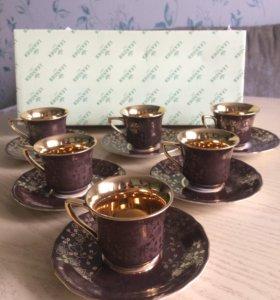 Leander фарфор кофейный набор оригинал Зеленоград