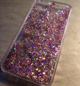 Чехол с плавающими блесками iPhone 6/6 s