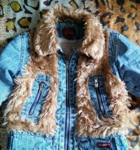 Меховая курточка CARS на 6-7 лет